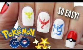 Pokemon Go Nails: Team Instinct, Valor, & Mystic! | Collab x Simply Nailogical