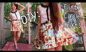 ♡DIY: Simple Circle Skirt {Back To School}