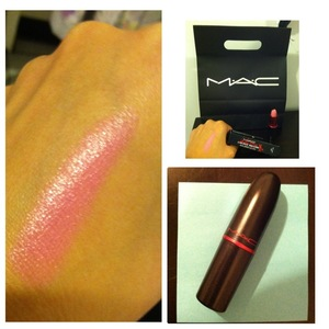 """MAC """"Lady Gaga"""" Lustre Lipstick in """"Viva Glam Gaga"""". I saw this color on a sales girl at Victoria Secret & asked her what brand & color was her lipstick??? She told me & I rushed to MAC to get it ASAP. I am in love with it... when I first saw it in the tu"""
