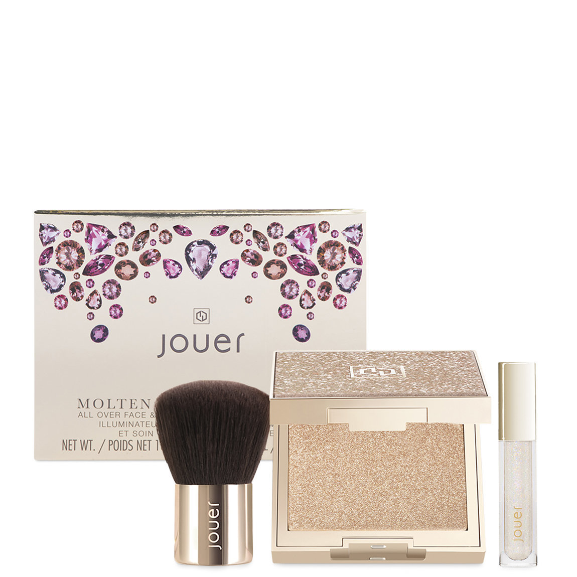 Jouer Cosmetics Molten Glow and Funfetti Set product swatch.