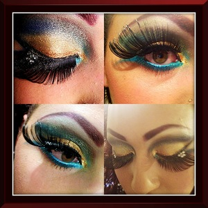 NYX jumbo pencils in milk and peacock. was inspired by watching elizabeth taylor in cleopatra.