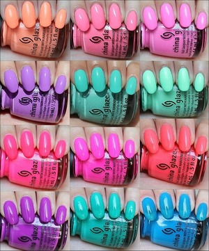 Click here to see my in-depth review and swatches for each of the 12 shades in the China Glaze Sunsational Collection: http://www.swatchandlearn.com/china-glaze-sunsational-collection-swatches-review/
