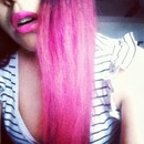 when I had pink hair