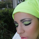 Maquillage vert limon tecnique cut crease