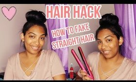 Hair Hack: How to fake straight hair | High Bun | For Curly, Wavy Hair RE UPLOAD
