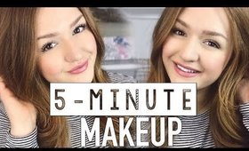 RUNNING LATE MAKEUP ROUTINE | CarolaneCP