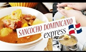 RECETA DOMINICANA/SANCOCHO DOMINICANO EXPRESS/COMO HACER SANCOCHO/COCINA CONMIGO