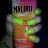 Neon Hot Yellow Acrylic Nails