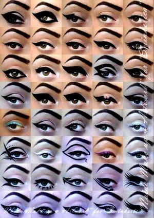 Cat eyes eye liner lovely