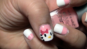 Nails: Hello Kitty Nail Art inspired by Cutepolish