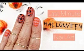 Last Minute Halloween Nail Art | 2016 🎃♡