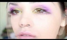 Green plus purple make up tutorial