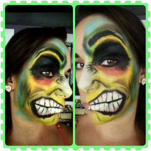 Halloween two-faced look
