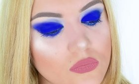 Bold Blue Smokey Eyes  Makeup
