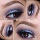 Glittery smokey eye :)