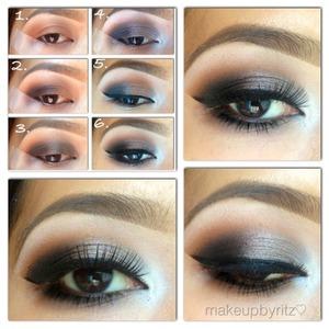 1⃣ Mac saddle on the crease 2⃣ Mac Carbon+shadowy lady on the outer V 3⃣ @makeupgeektv rave eyeliner on lid 4⃣ Mac satin taupe on top of rave + vanilla on inner corner 5⃣ Line eyes & smudge shadowy lady on lower lash line 6⃣ Add falsies. I'm using @trueorfalselashes in #medusa 😍   #vegas_nay #eotd #motd #mayamiamakup #wakeupandmakeup #gorgeouskb #trueorfalselashes #medusa #dressyourface #pala_foxxiamakeup #themakeupstory #pictorial