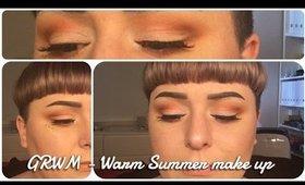 GRWM -  Warm summer make up