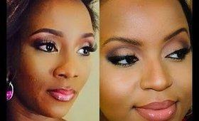 Genevieve Nnaji AMCVA Inspired Makeup