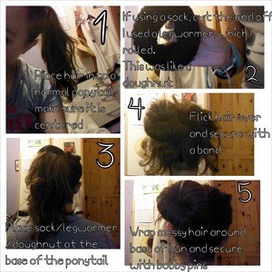 Never made a sock bun before, extremely easy, took me 5 minutes to do!:) hope this helps!