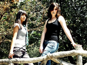 Bella and Lourdes for the Hogwarts photoshoot, makeup by me