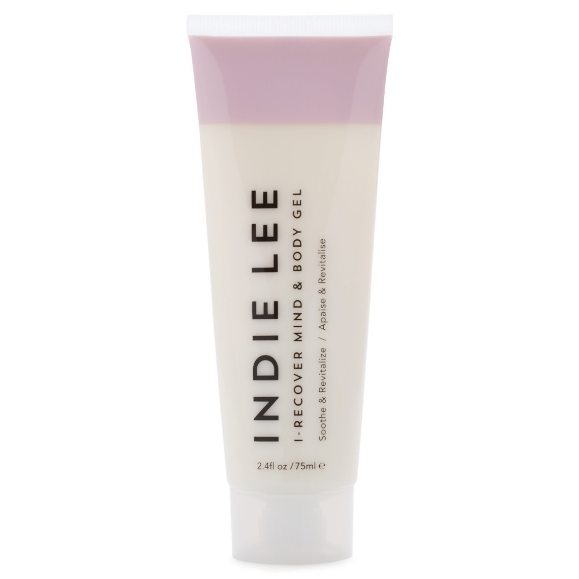 Indie Lee I-Recover Mind + Body Gel product smear.