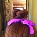 My hair it's a braided bun🎀