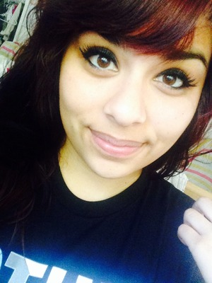 Just put on a thick eyeliner & put on my eyelashes :)  They are long :p