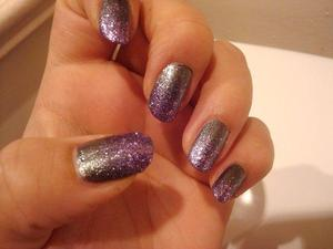 Used Lucerne-tainly Look Marvelous (OPI), and One Less Lonely Glitter (Nicole by OPI)