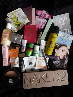 Purchased the Naked2 and Ulta face powder and got everything else free