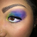 Mermaid rainbow eye