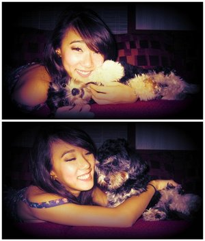 me and mochi <3