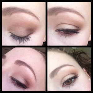 Everyday eye look using soft shades and neutrals.