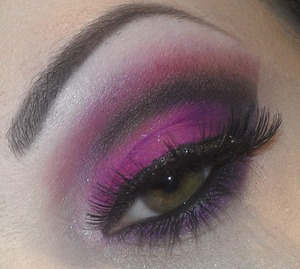 Pink, purple & black look for a night out.