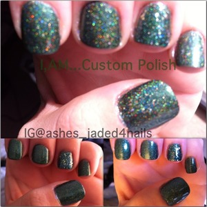 O tannenbaum- my personal franken. Forest green holographic.
