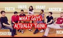 GOING DUTCH, THIGH GAPS, & MORE!! | What Guys ACTUALLY Think | 2015