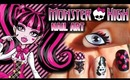 Monster High Nail Art ★ Draculaura Inspired (Requested)