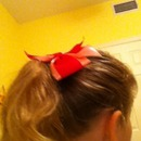 Me with a bow in my hair