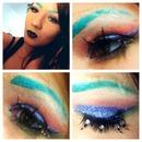 Rainbow Glitter Face