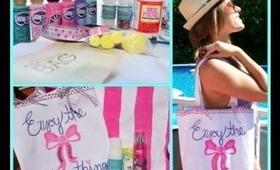DIY Summer Beach Bag