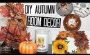 DIY Autumn Room Decor - Wreath, Candle Holders & Copper Initial