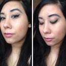 Contoured look with winged liner