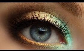 HD Trendy Mint & Gold Summer Smokey Eye Makeup Tutorial [Redo]