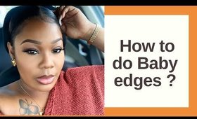How to do- BABY edges on a lace wig ft Nadula hair