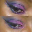 up close view of colorful makeup