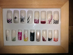 Another picture frame of nail art I did. now I just have to decorate the frame ;)