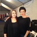 Myself and Joy backstage last night of fashion week