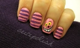 Fuzzy Cheshire Cat Nails!