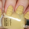 Yellow Kitty Newspaper Nails