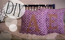 Make Monogrammed Cute Pillow Cases {No Sew & Sew} DIY How-to