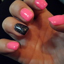 pink and galaxy black!